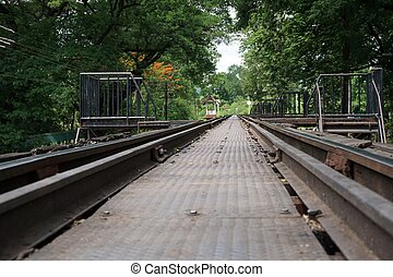 railway at The Bridge of the River Kwai