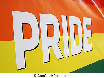 close-up rainbow flag at gay pride event