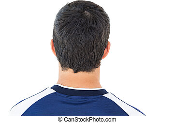 Close up rear view football player