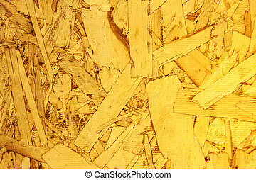 close up Recycled compressed wood chippings board
