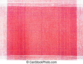 Close up red and white fabric pattern background.