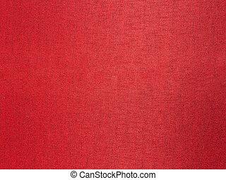 Close up red silk fabric,