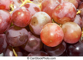 Close up Ripe red grape on white background