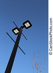 Close-up road lamp