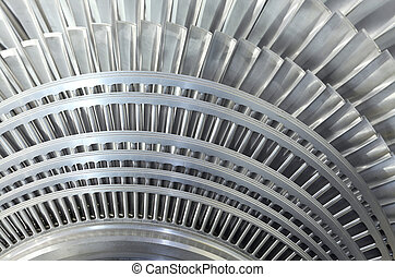 Close up rotor of a steam turbine - Close up of internal...