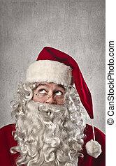 santa claus - close-up santa claus on gray background
