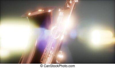 Close up Saxophone jazz instrument