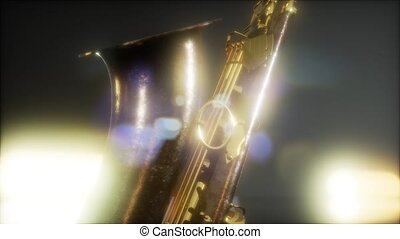 Close up Saxophone jazz instrument