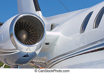 jet engine - Close up shot of a jet engine