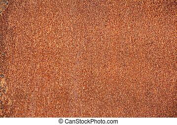 Close up shot of a rusty iron surface