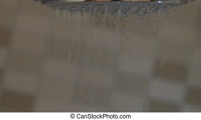 Close up shot of a shower.