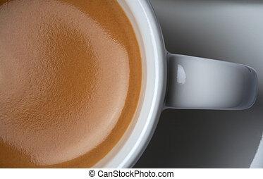 american espresso coffee - close-up shot of american ...