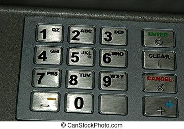 ATM Keypad - Close up shot of an ATM Keypad