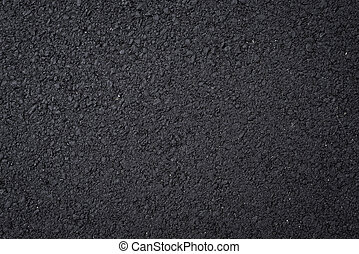 Close up shot of black asphalt