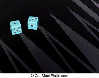 close up shot of blue dice
