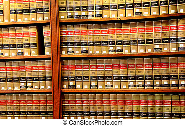 Law book library - Close up shot of books in Law book ...