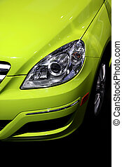 Close up shot of car
