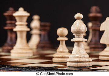 Close-up Shot Of Chess Board And Figures
