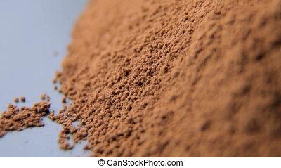 Close up shot of cocoa powder
