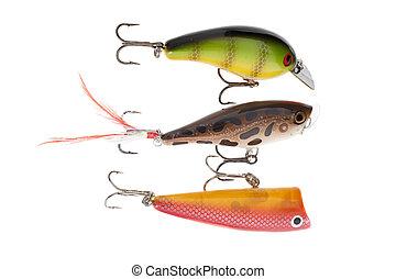Close-up shot of crank bait fishing lure