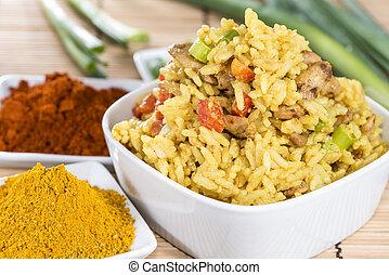 Close-Up shot of Curry Rice