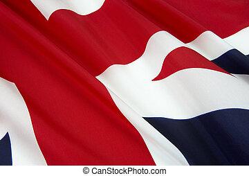 Close up shot of flag of England