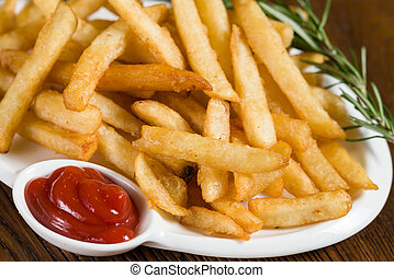 Close up shot of french fries
