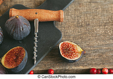 Close up shot of fruit and spices for glint wine cooking