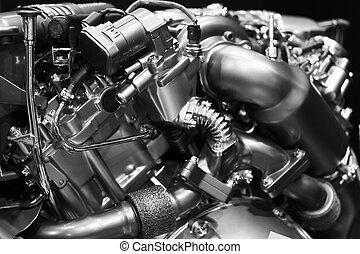 diesel engine - Close up shot of modern diesel engine block