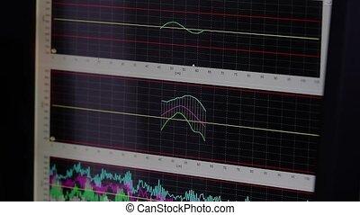 Close Up Shot of Multi-colored diagram. - Diagram of...