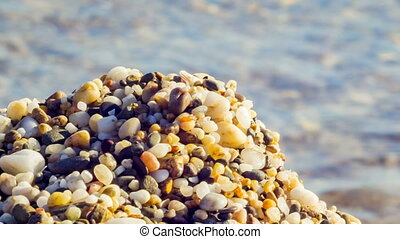 Close-up Shot of Pebble On The Beach