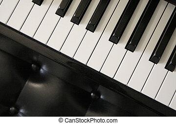 piano keys - Close up shot of piano keys