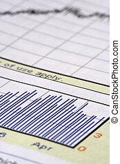 close up shot of stock chart