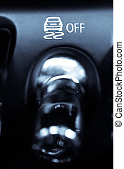ESP button - Close up shot of the ESP button in a car.