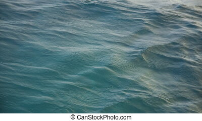 Close up shot of the ocean's waters