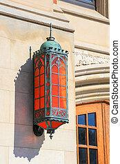 traditional bright orange lamp