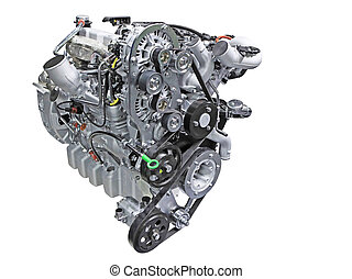 diesel engine - Close up shot of turbo diesel engine