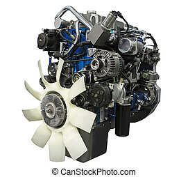Close up shot of turbo diesel engine