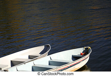 Two boats on a lake