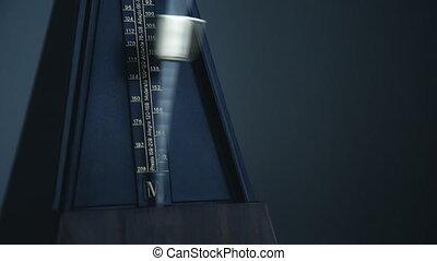 Close-up shot of vintage metronome