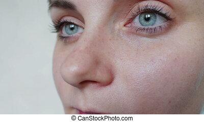 Close-up shot of woman eyes