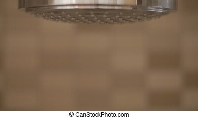 Close up Shower head with water dropping.
