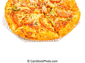 pizza on white background