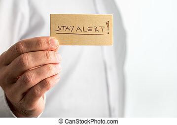 Simple Stay Alert Concept Design