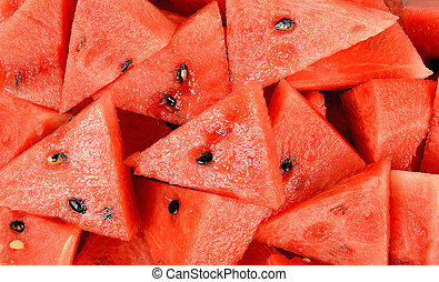 close up sliced of watermelon background texture