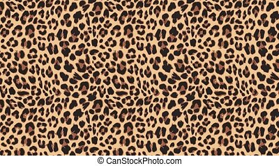 Close up, slow motion of moving leopard hair. Seamless...
