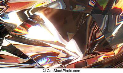 close-up slowly rotating diamond
