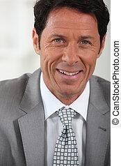close-up smiling businessman