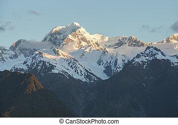 close up snow on the mountain peak