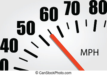Close-Up Speedometer Illustration
